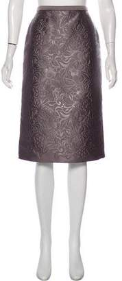 Burberry Floral Matelassé Skirt