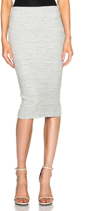 James Perse Heavy Rib Skinny Skirt $195 thestylecure.com