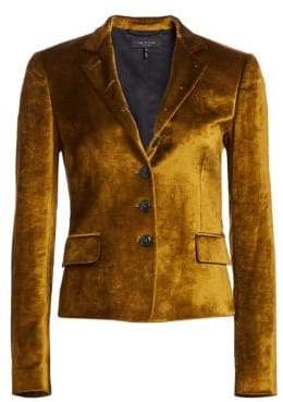 Rag & Bone Rei Velvet Notch Collar Tailored Blazer