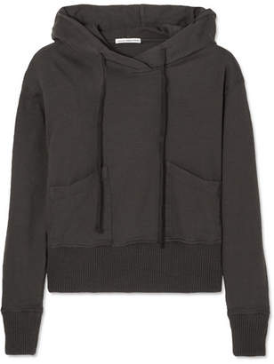 James Perse Cotton-jersey Hooded Top - Charcoal