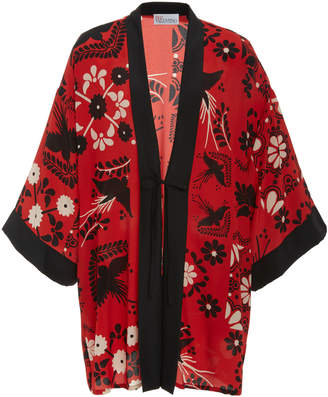 RED Valentino Printed Silk Jacket