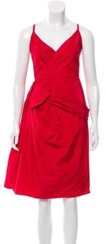 Christian Dior Draped Sleeveless Dress
