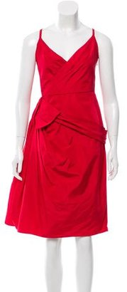 Christian Dior Draped Sleeveless Dress