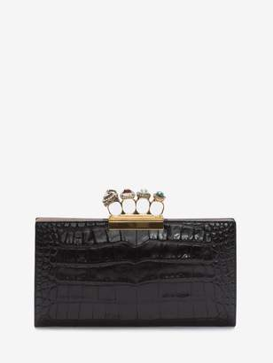 Alexander McQueen Jeweled Four-Ring Pouch