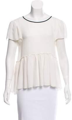 Cinq à Sept Silk Short Sleeve Blouse