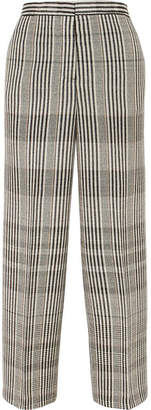 Jil Sander Checked Wool-blend Pants - Gray