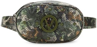 Call Of The Wild Valentino By Mario Valentino Madelaine Rockstud Snake-Embossed Leather Waist Bag