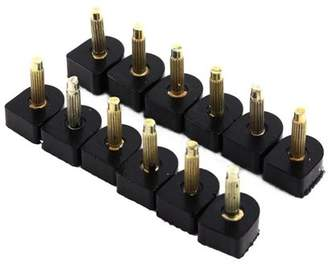 Qiilu 60PCs (5 Different Size) Women High Heel Shoe Repair Tips - Heel Caps Kit Pin Taps Dowel Lifts Replacement