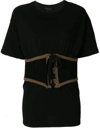 KENDALL + KYLIE Kendall+Kylie corset T-shirt