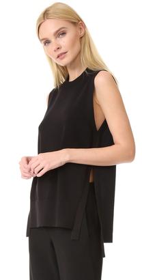 DKNY Sleeveless Sweater $248 thestylecure.com
