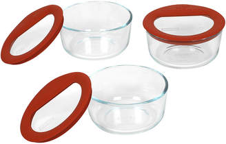 Pyrex Set of 3 No-Leak Glass Food Storage Dishes