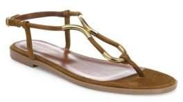 Sergio Rossi Twist Suede Flat Sandals