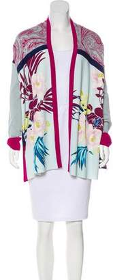 Etro Patterned Open-Front Cardigan