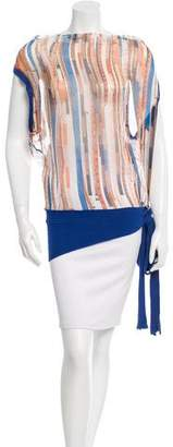 Jean Paul Gaultier Sheer Printed Top $125 thestylecure.com