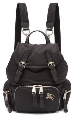 Burberry Small Logo Plaque Backpack - Womens - Black