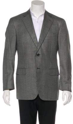 Canali Plaid Wool & Silk Blazer