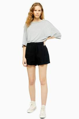 Topshop Womens **Tailored Runner Shorts By Boutique - Black