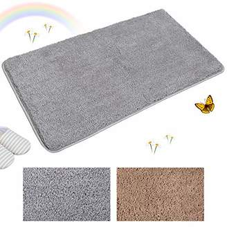 Indoor Doormat Super Absorbs Mud Absorbent Rubber Backing Non Slip Door Mat for Front Door Inside Floor Dirt Trapper Mats Cotton Entrance Rug