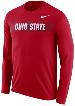 Nike Men's Ohio State Buckeyes Legend Sideline Long Sleeve T-Shirt 2018