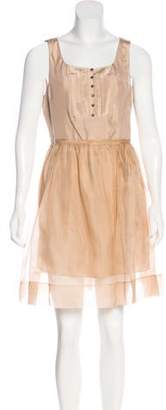 Elizabeth and James Silk Pleated Dress