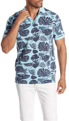 7 Diamonds Maxwell Tropical Print Polo