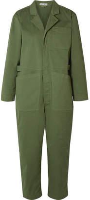 Alex Mill Cotton-blend Twill Jumpsuit - Army green
