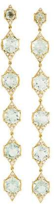 Jamie Wolf 18K Prasiolite Hexagon Diamond Drop Earrings