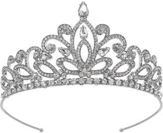 Badgley Mischka Silver-Tone Crystal Tiara