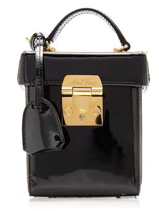 Mark Cross Grace Cube Patent Leather Top-Handle Bag