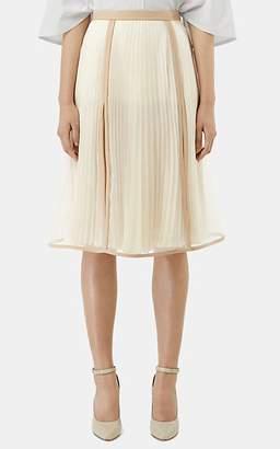 Burberry Women's Silk Organza Layered Skirt - White