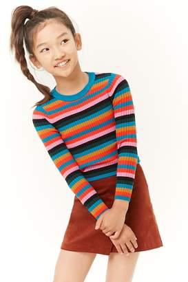 Forever 21 Girls Multistriped Sweater (Kids)