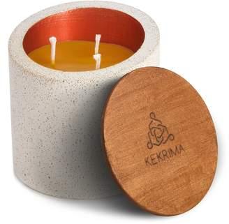KEKRIMA - Concrete Mozaik Copper Candle Pure Beeswax 400ml