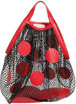 Maison Margiela Fishnet & Leather Polka Dot Tote Bag