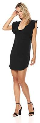 Pam & Gela Women's Flutter Sleeve Scoop Neck Dress