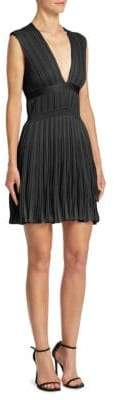 Roberto Cavalli Deep V-Neck Mini Dress