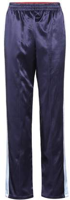 Opening Ceremony Reversible silk satin trackpants