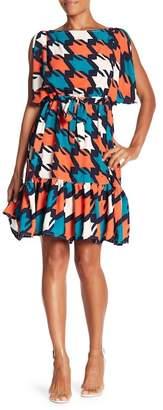 Eva Franco Athena Ruffle Hem Dress