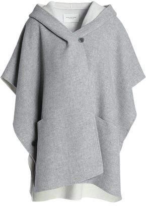 Halston Mélange Wool-Blend Hooded Cape