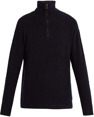 Burberry Zipped cashmere knitted sweater