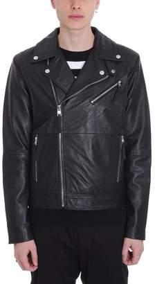 Calvin Klein Jeans Black Leather Biker Jacket