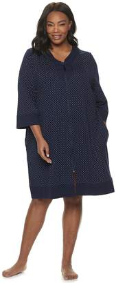Croft & Barrow Plus Size Zip-Front Robe