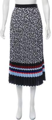 Mother of Pearl Pleated Patterned Skirt