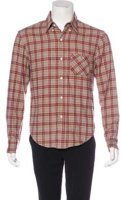 Band Of Outsiders Plaid Woven Button-Up Shirt