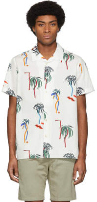 Paul Smith White Palm Tree Short Sleeve Shirt