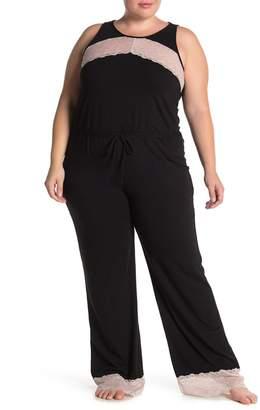Cosabella x Eloquii Ferrara Lace Trim Sleep Jumpsuit (Plus Size)