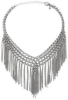 Jules Smith Barb Chain Fringe Choker $60 thestylecure.com
