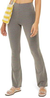 Topshop Metallic Stripe Pull-On Trousers