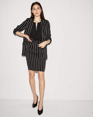 Express High Waisted Striped Sash Waist Skirt