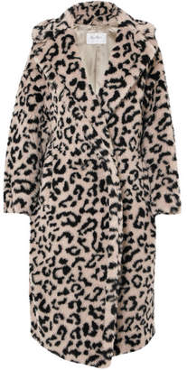 Max Mara Oversized Leopard-print Faux Fur Coat - Beige