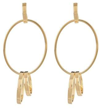 Argentovivo 18K Gold Plated Sterling Silver Oval Post Drop Earrings
